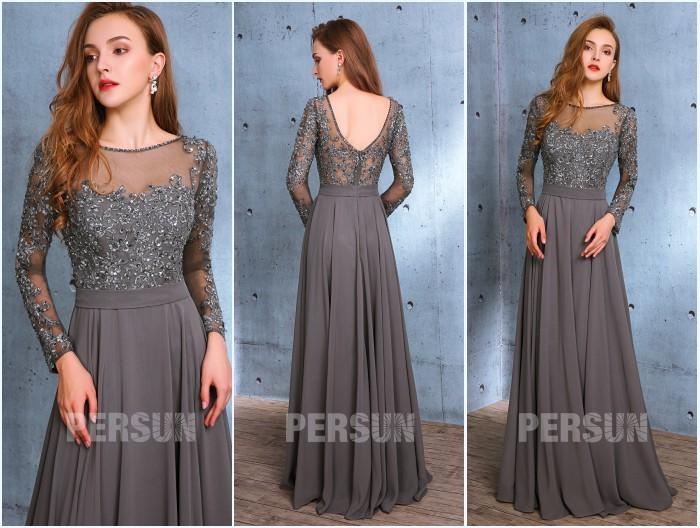 robes de soirée à manches